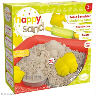 Kit Happy Sand 550 g - Moules XL - Véhicules