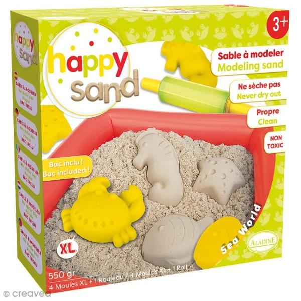 Kit Happy Sand 550 g - Moules XL - Mer - Photo n°1