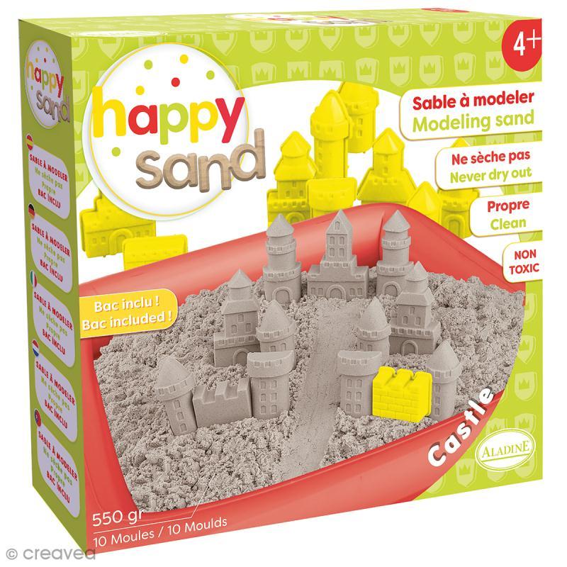 Kit Happy Sand 550 g - Moules XL - Château - Photo n°1