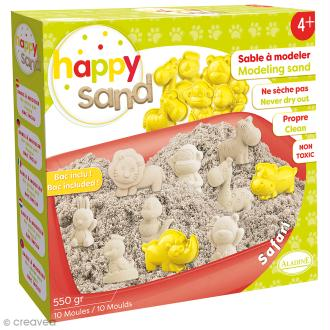 Kit Happy Sand 550 g - Moules XL - Safari