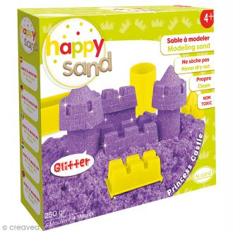 Kit Happy Sand 250 g - Paillettes - Château de princesse