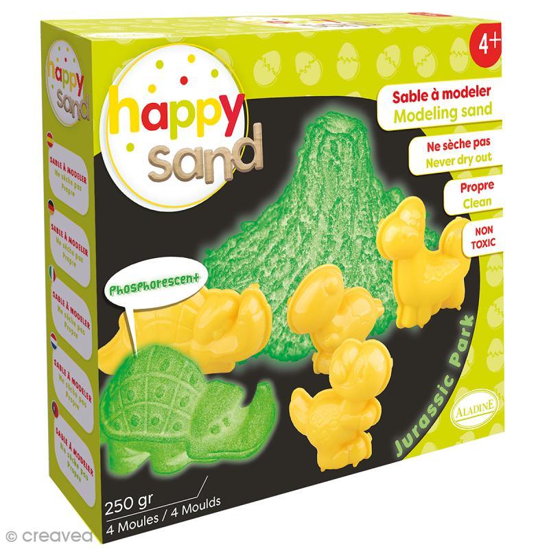Kit Happy Sand 250 g - Phosphorescent - Dinosaures - Photo n°1
