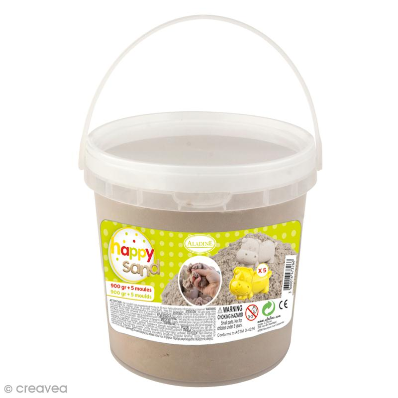 Kit Happy Sand - Seau 900 g et moules Animaux - Photo n°1