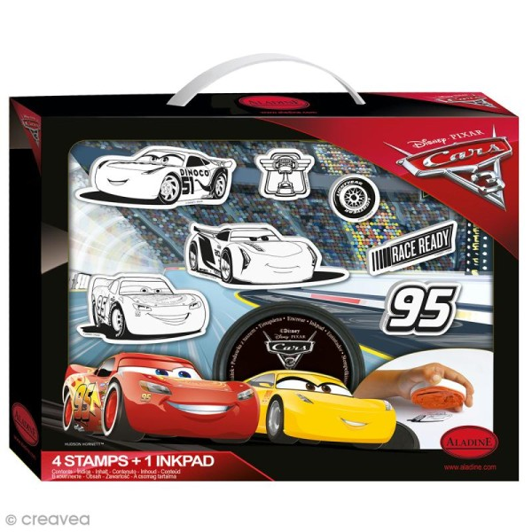 Kit Tampon Disney Enfant - Cars 3 - 6 pcs - Photo n°1