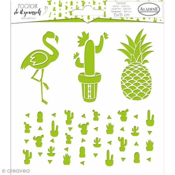 Pochoir Do it yourself d'Aladine - Cactus - 15 x 15 cm - Photo n°1