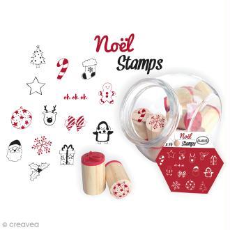 Kit Stampo Bocal - Noël - 14 tampons et 1 encreur