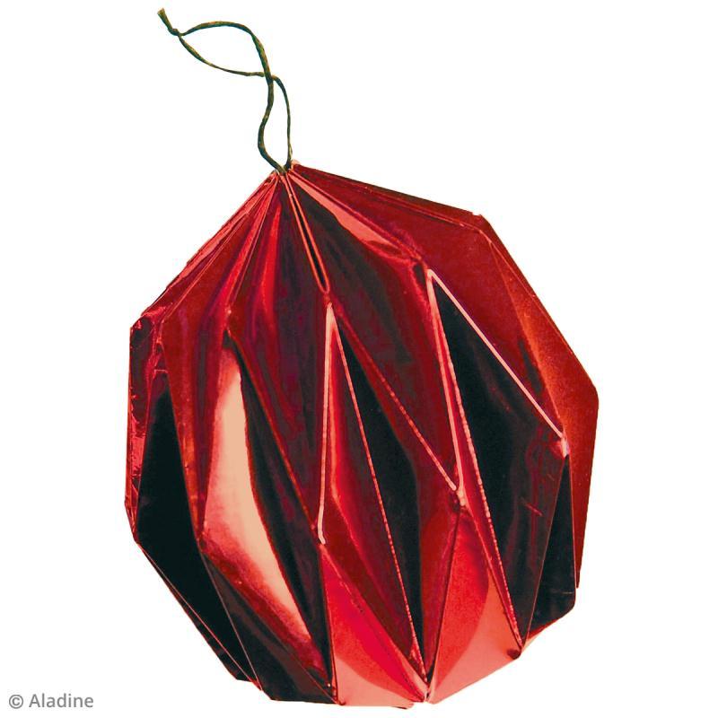 boule de noel origami des sports pergamano arbre houx aux. Black Bedroom Furniture Sets. Home Design Ideas