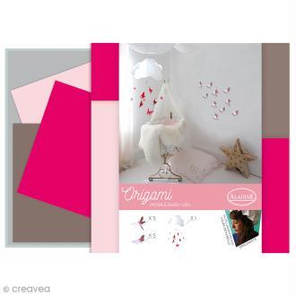 Kit Origami - Décoration chambre de bébé - Fille