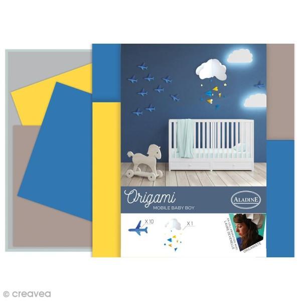 Kit Origami - Décoration chambre de bébé - Garçon - Photo n°1