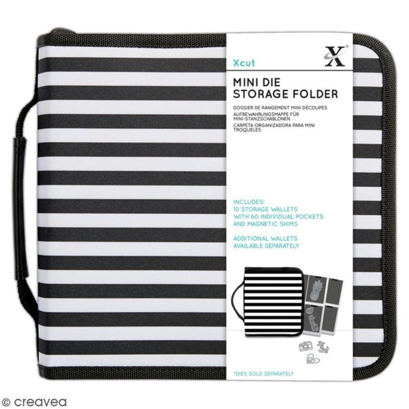 classeur de rangement xcut mini dies 24 x 24 cm 10 pochettes dies embossage creavea. Black Bedroom Furniture Sets. Home Design Ideas