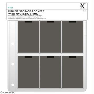 Pochettes de rangement Xcut Mini Dies avec cales magnétiques - 22 x 20 cm - 10 pcs