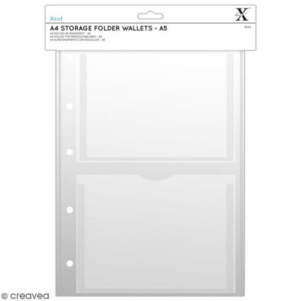 Pochettes de rangement Xcut A4 - A5 - 5 pcs - Photo n°1