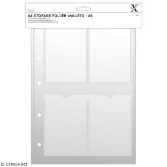 Pochettes de rangement Xcut A4 - A6 - 5 pcs