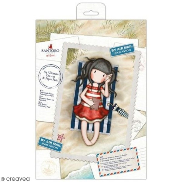 Kit complet scrapbooking Gorjuss Santoro - Papiers et die-cuts Lettres et cartes postales - 48 pcs - Photo n°1