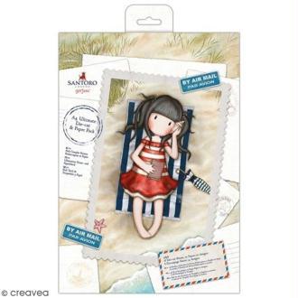 Kit complet scrapbooking Gorjuss Santoro - Papiers et die-cuts Lettres et cartes postales - 48 pcs
