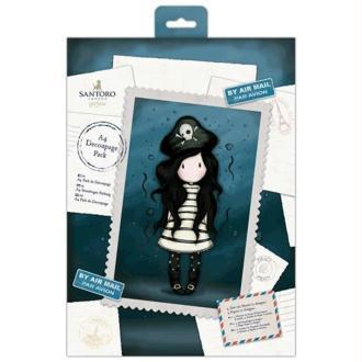 Kit de découpage A4 Gorjuss - Piracy