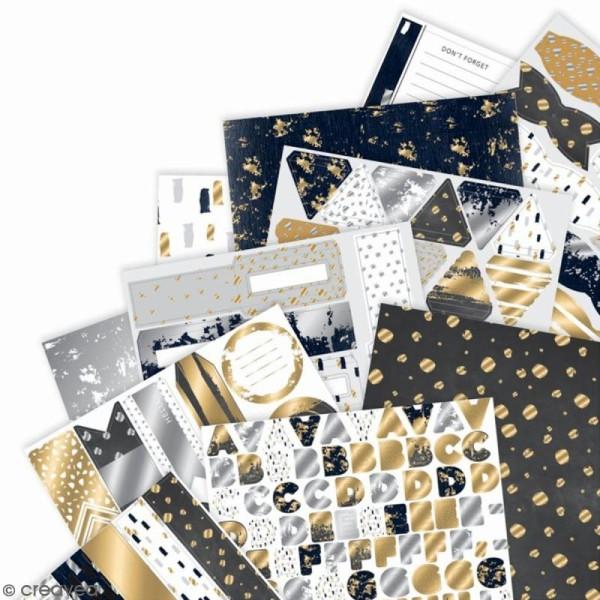 Pack complet scrapbooking Eléments métalliques - A4 - 48 pcs - Photo n°2