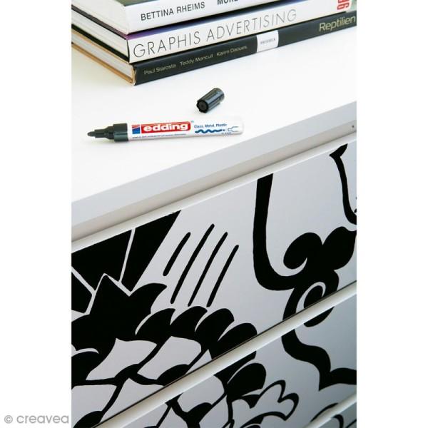 Marqueur peinture multisurfaces Edding 750 - Noir - Photo n°3