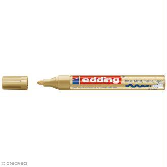 Marqueur peinture multisurfaces Edding 750 - Doré