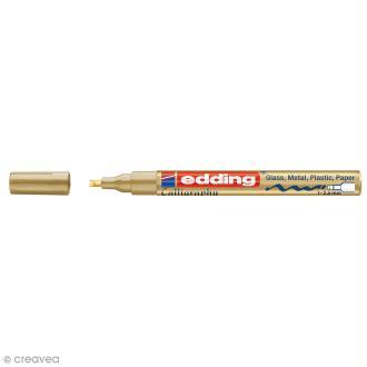 Marqueur peinture calligraphie Edding 753 - Doré - Pointe de 1 à 2,5 mm