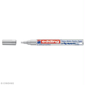 Marqueur peinture calligraphie Edding 753 - Argenté - Pointe de 1 à 2,5 mm