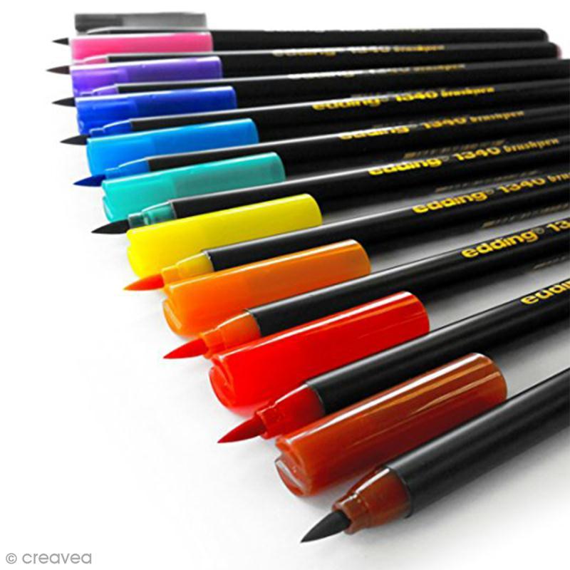 Feutres pinceaux Edding - 10 Brushpens - Photo n°2