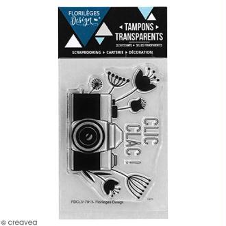Tampon clear Florilèges Design - Clic clac Flowers - 65 x 45 mm
