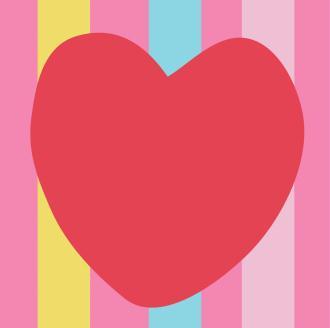 Kit canevas Le Coeur Rouge - DMC - 15 x 15 cm