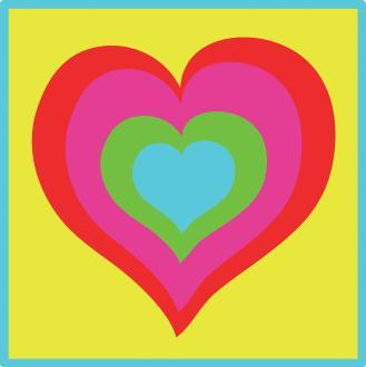 Kit canevas Le Coeur Multico - DMC - 15 x 15 cm