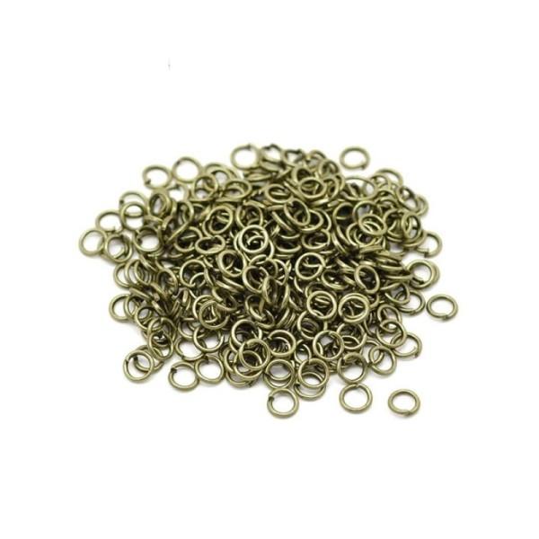 Anneaux de jonction 5mm ouverts bronze - 100 pièces - Photo n°1