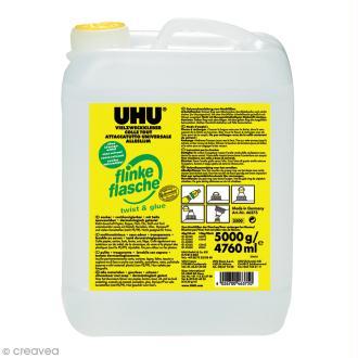 Colle UHU Twist & Glue sans solvant multi matériaux - Bidon 5 kg