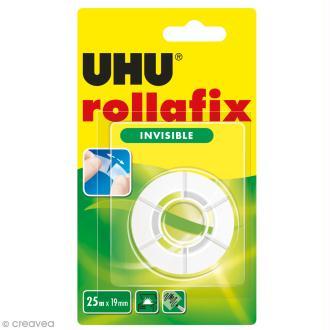 Rouleau adhésif invisible Rollafix - 19 mm x 25 m