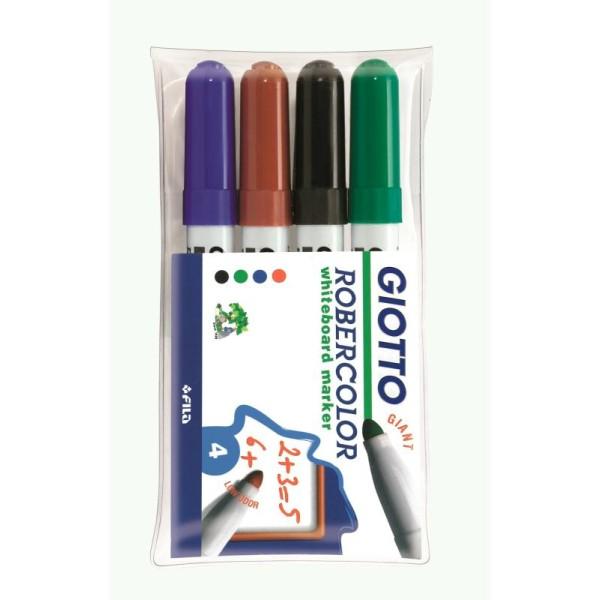Marqueurs MAXI pour tableau blanc - GIOTTO x 4 - Photo n°1