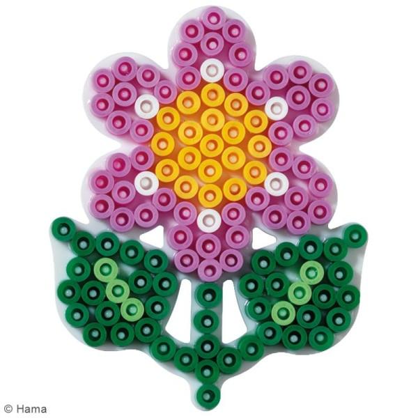 Plaque Support pour Perles Hama  Midi - Fleur - 1 pce - Photo n°2