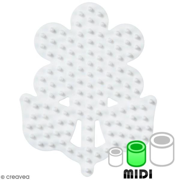 Plaque Support pour Perles Hama  Midi - Fleur - 1 pce - Photo n°1