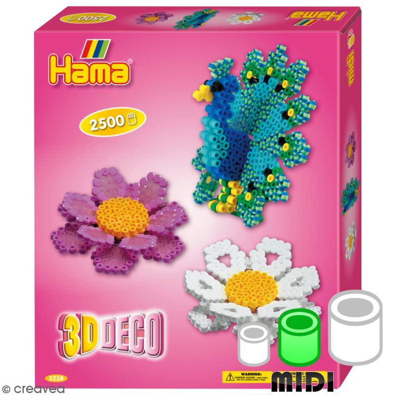 kit perles hama midi 3d d co kit perles repasser creavea. Black Bedroom Furniture Sets. Home Design Ideas