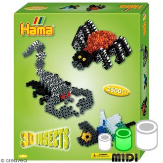 Kit Perles Hama Midi - 3D Insectes
