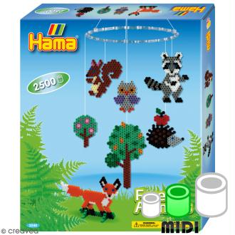 Kit Perles Hama Midi - Animaux de la forêt