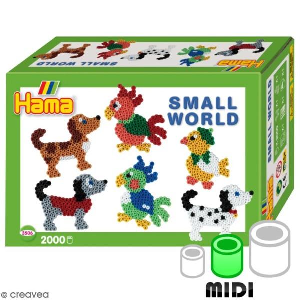 Kit Perles Hama Midi - Monde miniature - Photo n°1
