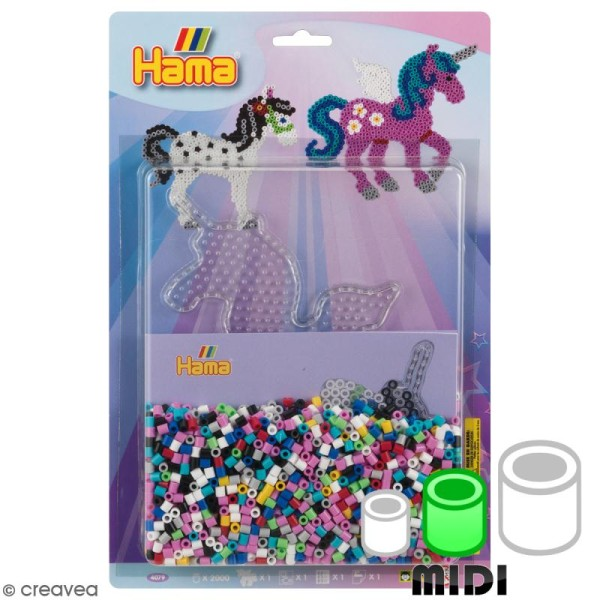 Kit Perles Hama Midi - Licorne - Photo n°1