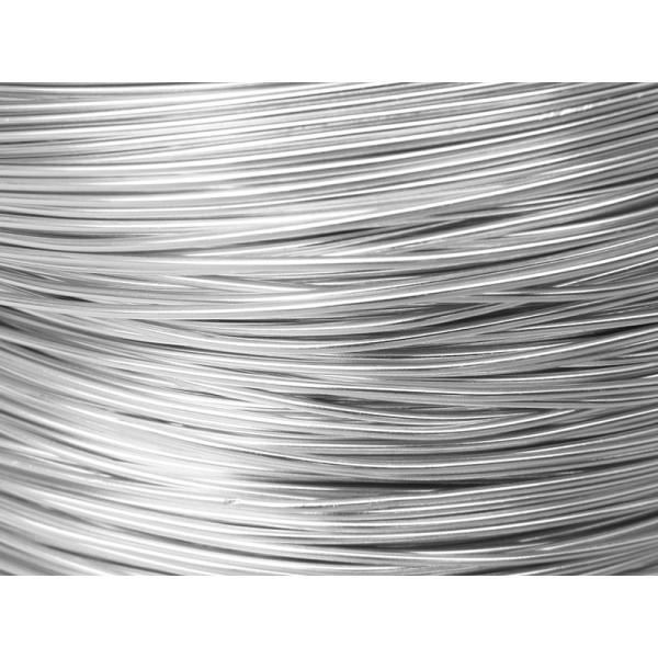 2 Mètres fil aluminium argent 1mm Oasis ® - Photo n°1