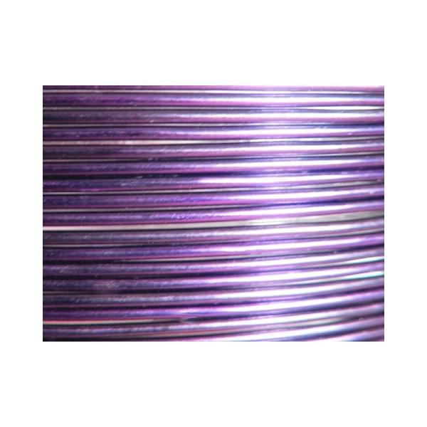 Bobine 60 M fil aluminium aubergine 2mm Oasis ® - Photo n°1