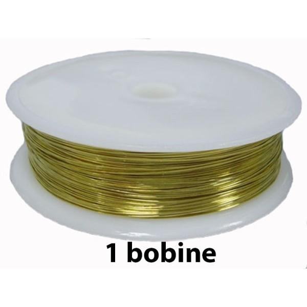 1 bobine Doré clair 0.3 mm - Photo n°1