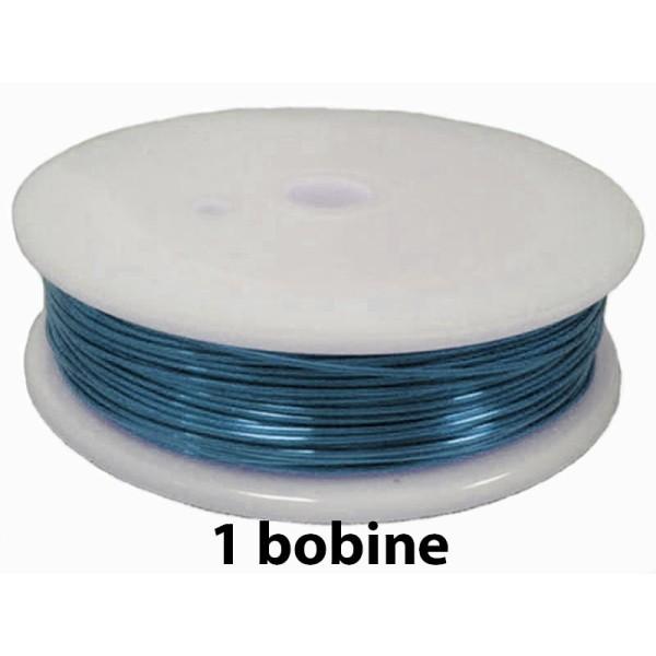 1 bobine Bleu océan 0.8 mm - Photo n°1