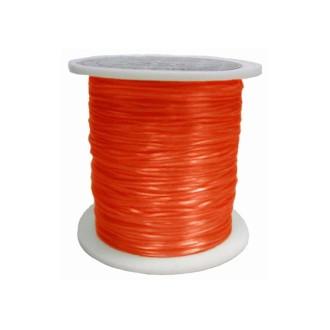 Elastique 0.8 mm Orange Rouge