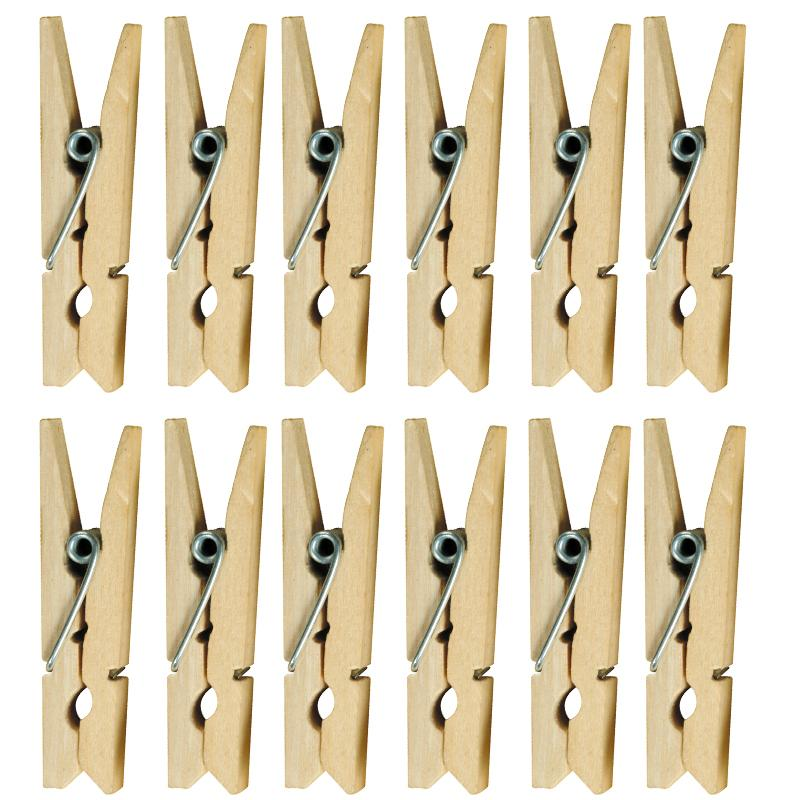 Pinces à linge naturelles 47 mm x 12 - Photo n°1