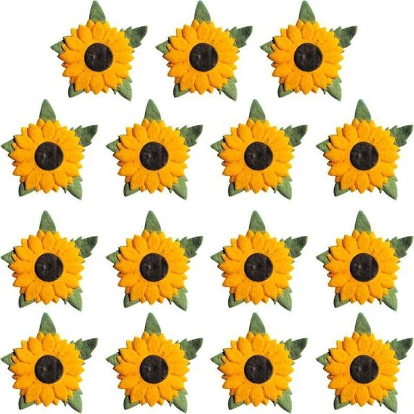 Fleur en papier Tournesol x 15 - Photo n°1