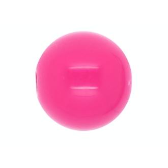 10 x Perle Ronde 14mm Rose Vif Opaque