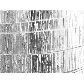 1 Mètre fil aluminium plat strié argent 20mm Oasis ®