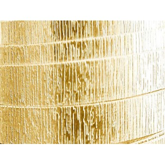 1 Mètre fil aluminium plat strié doré clair 20mm Oasis ®